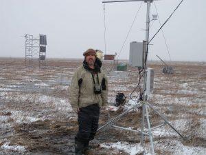 John Gamon at Churchill Fen site