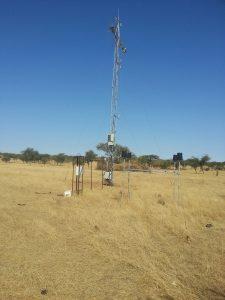 Dahra field site meteorological tower
