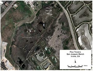 Locations of the San Joaquin eddy covariance towers